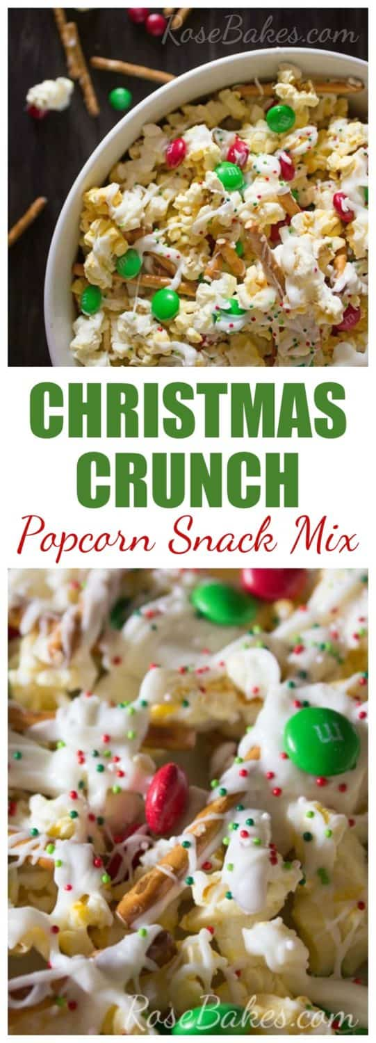 Christmas Crunch Popcorn Snack Mix Pin