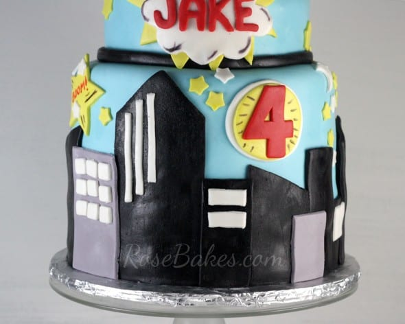 City Scape Super Heroes Cake