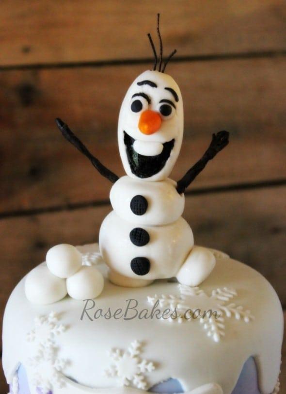 Fondant Olaf Cake Topper Frozen