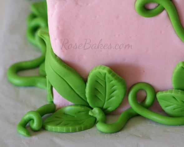 Fondant Vines and Leaves