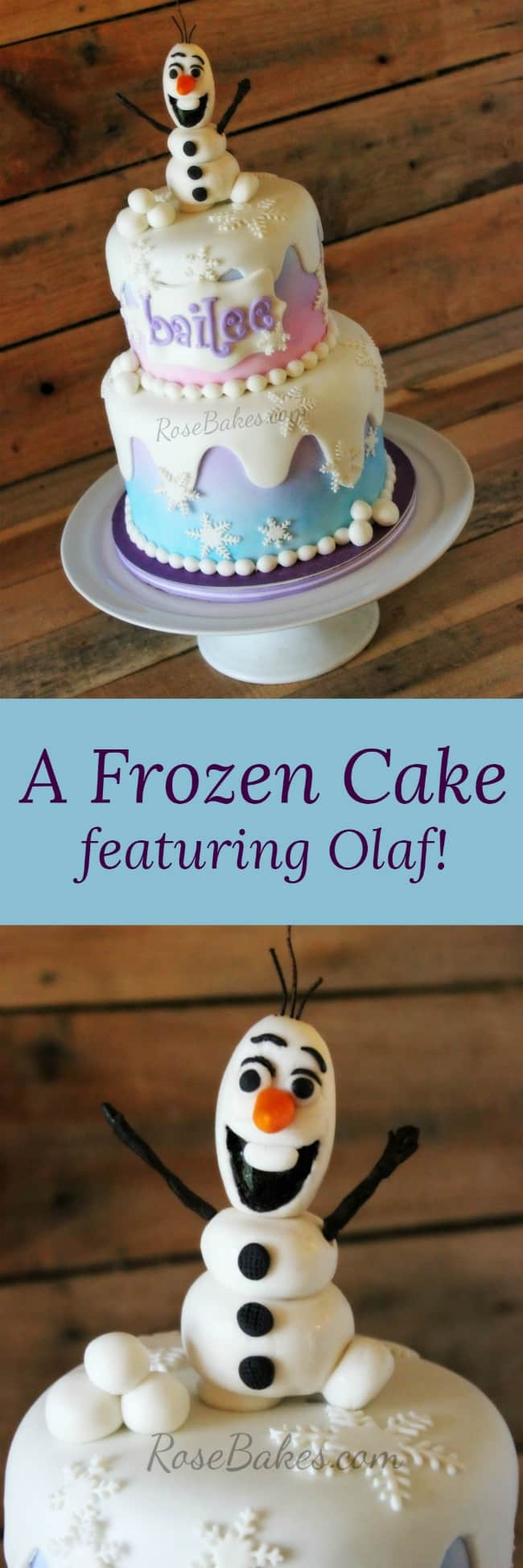 Frozen Cake featuring Olaf