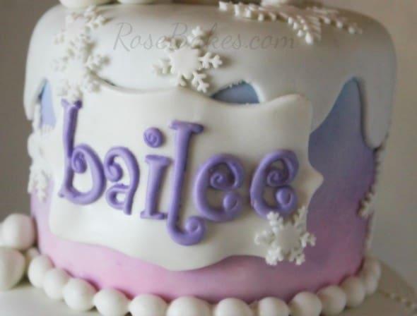 Funky Alphabet Letters on Frozen Olaf Cake