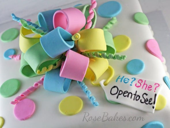 He She Open to See Gender Reveal Cake