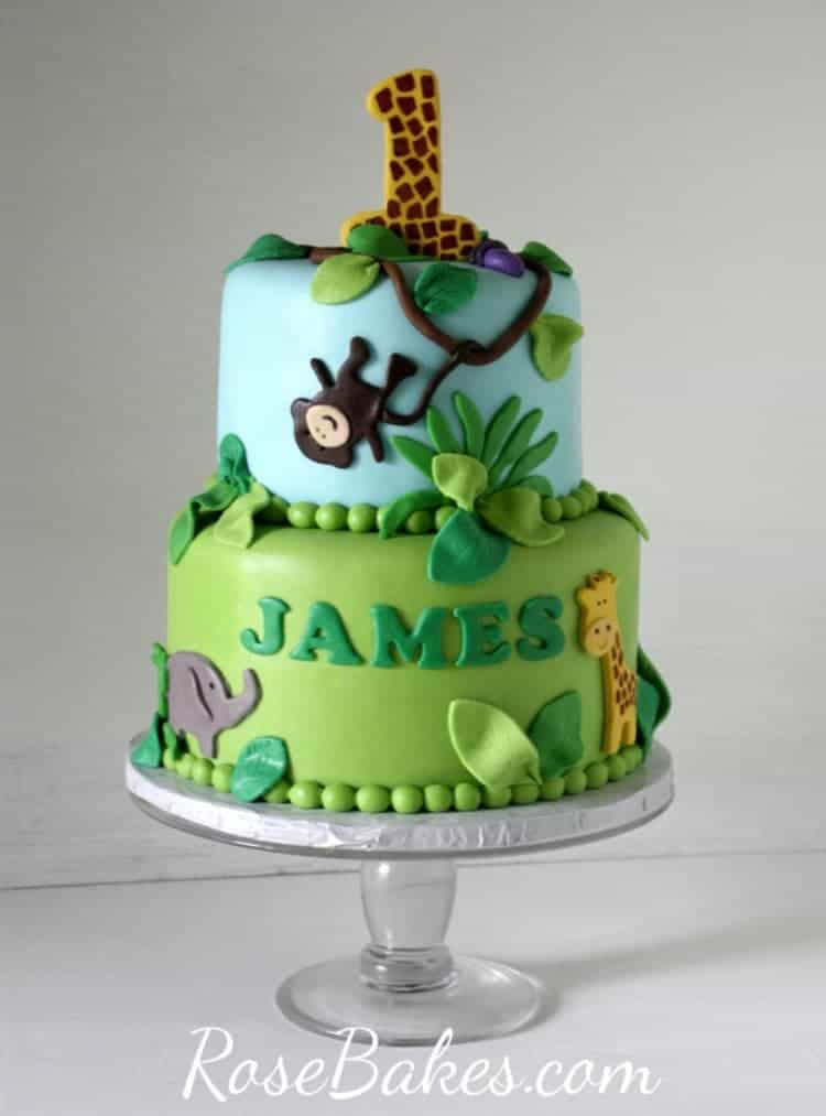 Jungle 1st Birthday Cake Smash