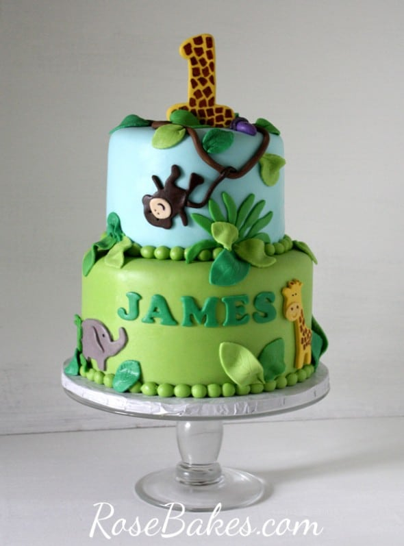 Jungle Birthday Cake Images : Jungle 1st Birthday Cake & Smash Cake - Rose Bakes