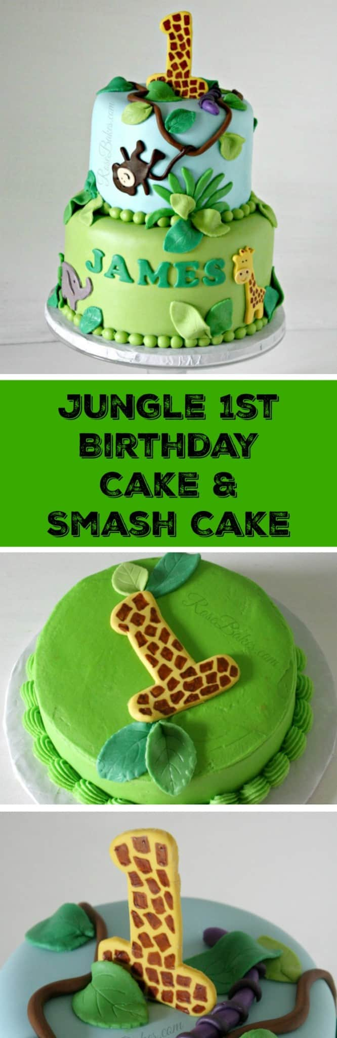 Jungle 1st Birthday Cake Smash By RoseBakes