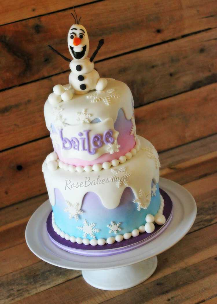 Frozen Cake And A Frozen Sale Rose Bakes