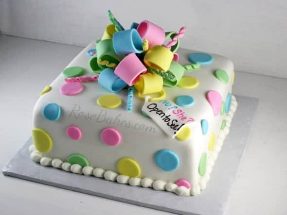 Behance polka dots gender reveal cake negle Images