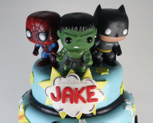 Super Heroes Bobble Heads Cake Toppers