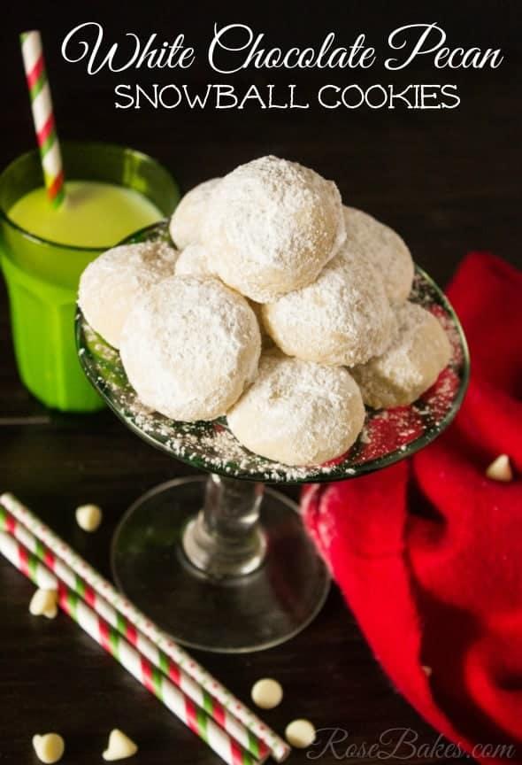 White Chocolate Pecan Snowball Cookies Recipe