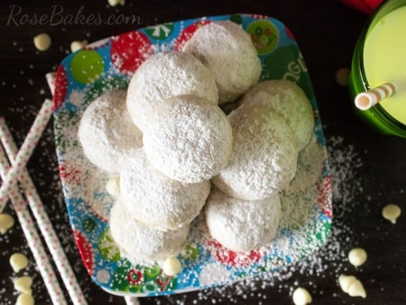 White Chocolate Pecan Snowball Cookies WM