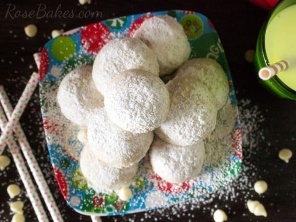 White Chocolate Pecan Snowball Cookies WM
