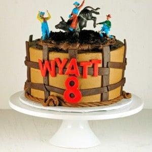 Bull Riding Cowboy Cake