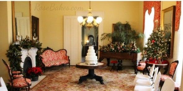 Christmas Lace Wedding Cake