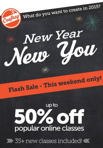 Craftsy New Year SALE New