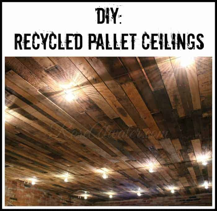 DIY Recycled Pallet Ceilings