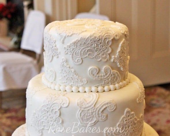 wedding cakes lace and pearl lace wedding cake bakes 24864