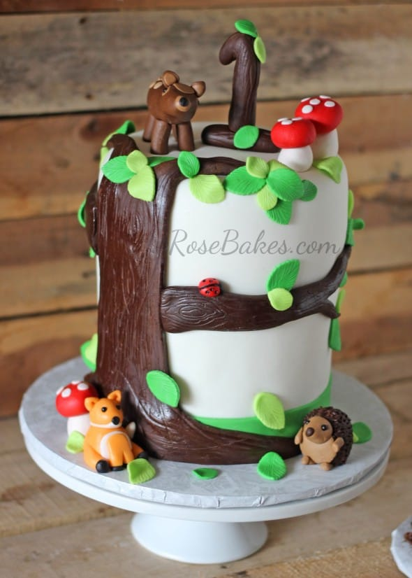 Woodland Animals Tree Stump Cake Amp Smash Cake Rose Bakes