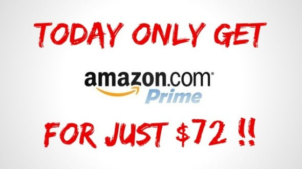 Get Amazon Prime For Only $72