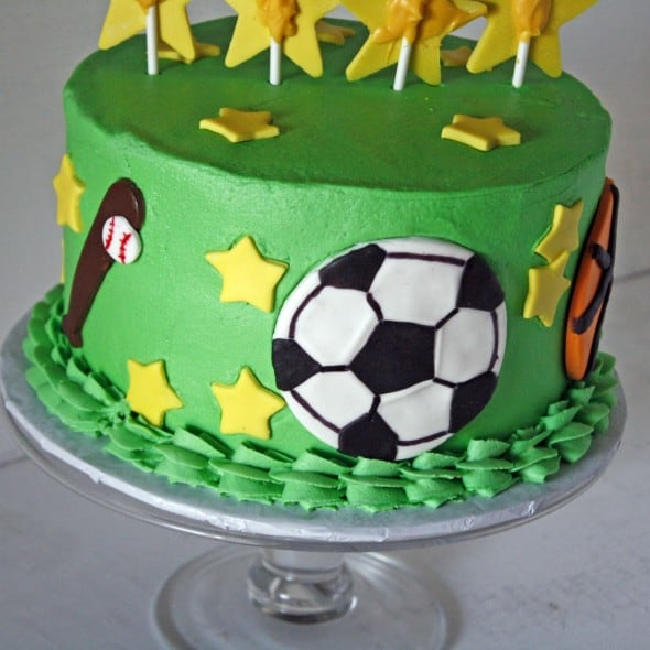 Hank Sports Ball Cake Back