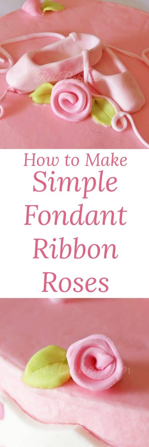 How to Make Simple Fondant Ribbon Roses by RoseBakes