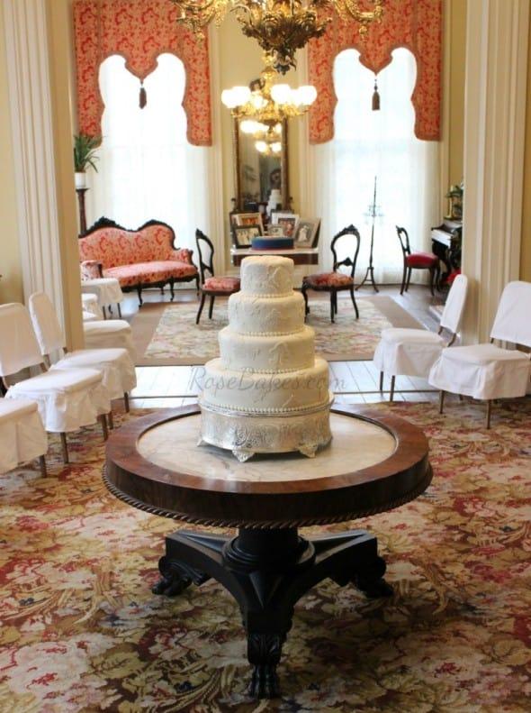 Lace Wedding Cake at Magnolia House in Natchez