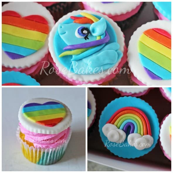 My Little Pony Rainbow Dash Cupcake Toppers