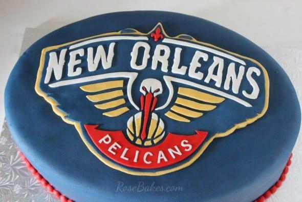 New Orleans Pelicans Logo Cake