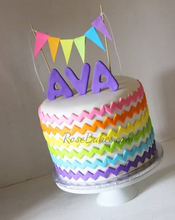 Rainbow Chevron Cake