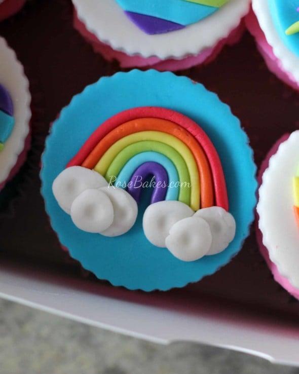 Rainbow Cupcake Topper