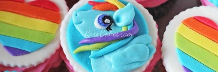 rainbow dash cupcakes