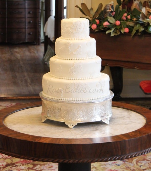 rustic lace wedding cake lace wedding cake bakes 19507