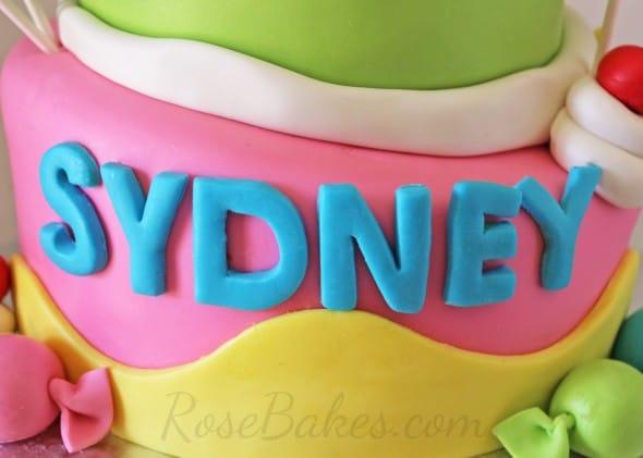Sydney on Candy Cake