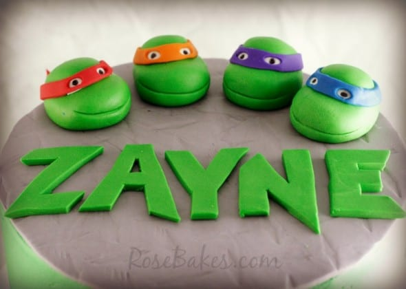 Tiny Ninja Turtle Cake Toppers