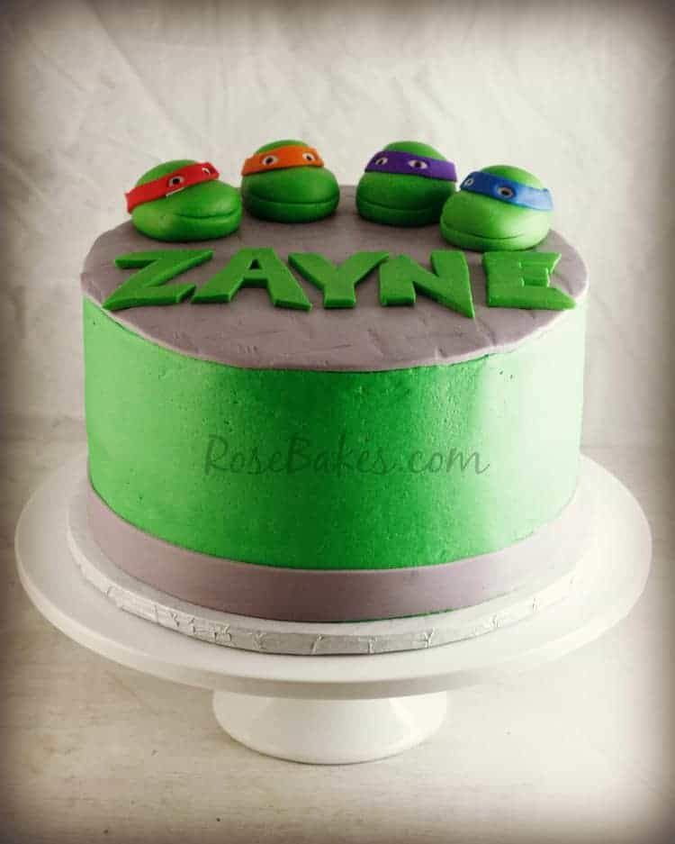 Ninja Turtle Birthday Cake And Cupcakes