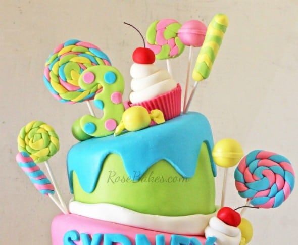 Topsy-Turvy Candy Cake Top Tier
