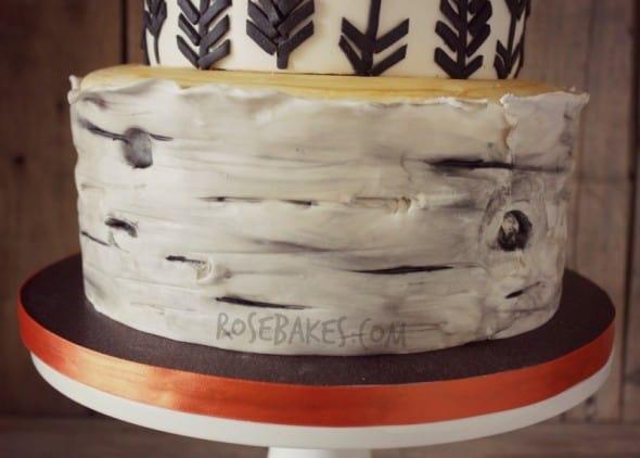 Birch Tree Cake Tier