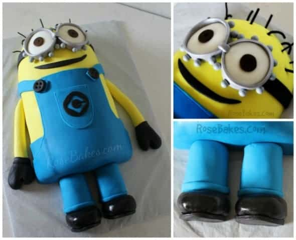 Despicable Me Minion Cake Collage