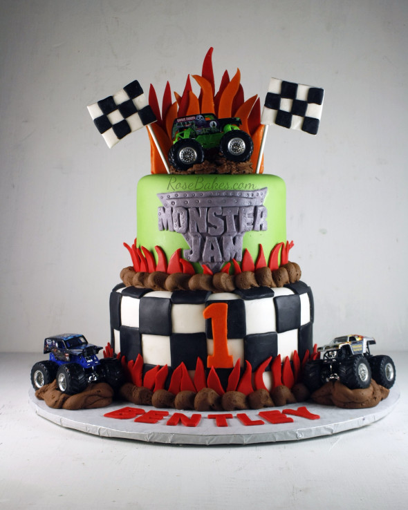 Monster Truck Decorated Cakes