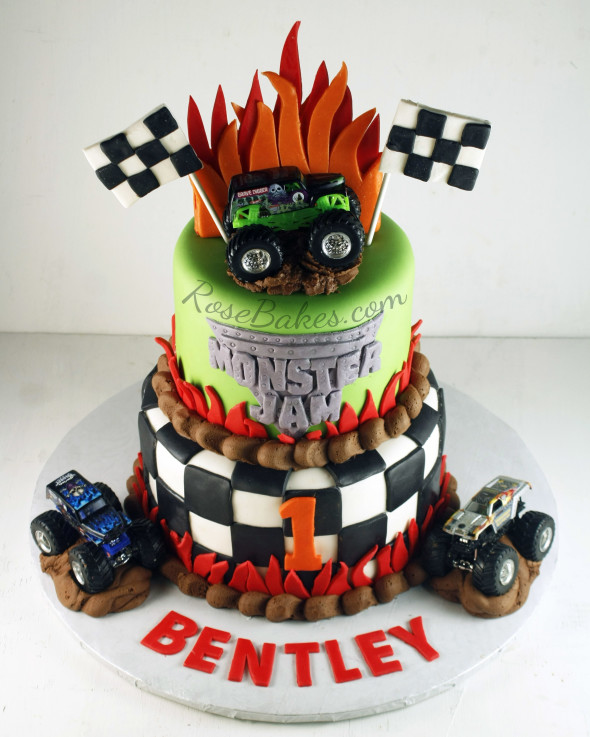 Monster Jam Cake and Smash Cake - Rose Bakes