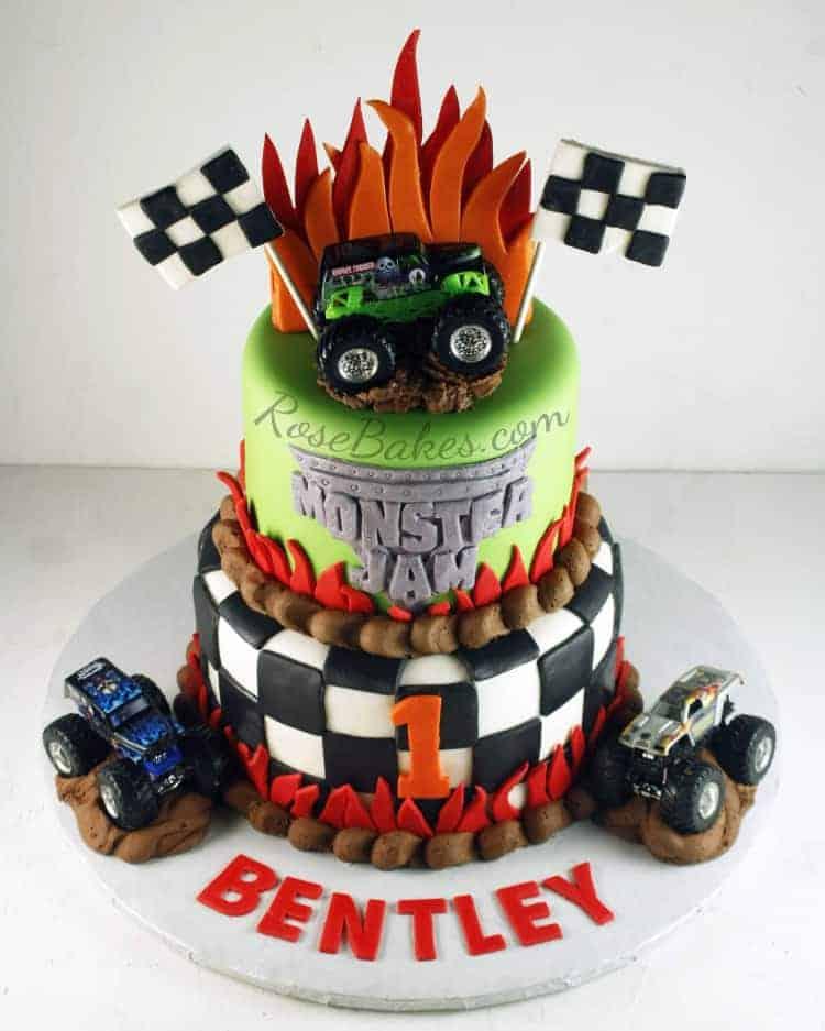 Monster Jam Cake And Smash Cake Rose Bakes