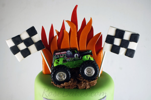 Monster Jam Cake And Smash Cake Rose Bakes