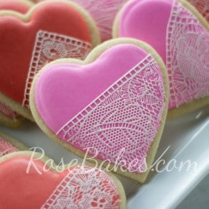 Lace Valentine's Cookies + My Long Day!!