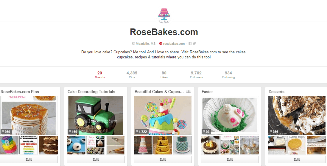 Rose Bakes on Pinterest