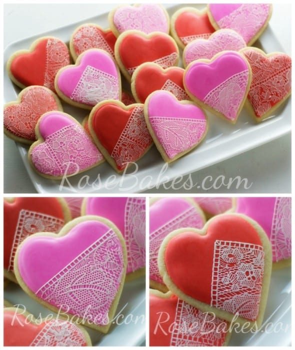 Valentines Lace Cookies