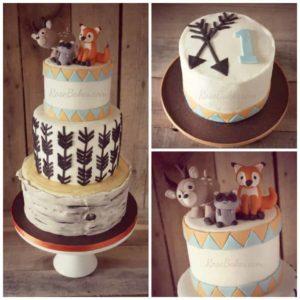 Woodland Animals Tree & Arrows Cake
