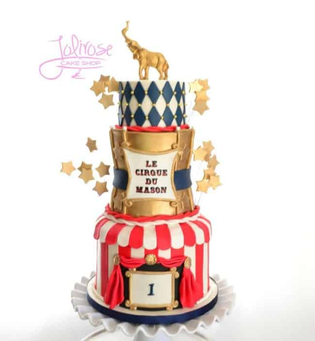 Circus Cake with Gold