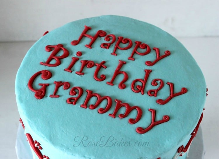 Funky Alphabet Letters on Cardinals Cake