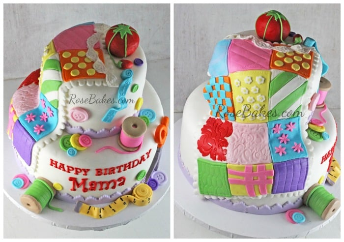 Quilting Cake Collage
