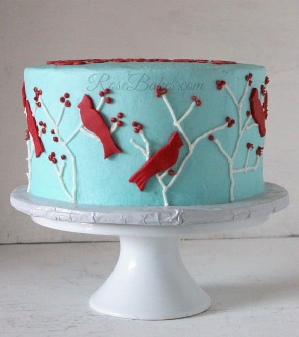 Red Birds Cake